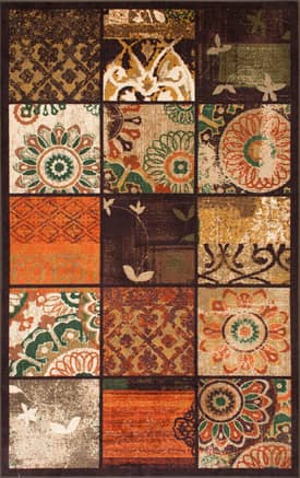Rugs USA Floral Quilted Squares GZ13