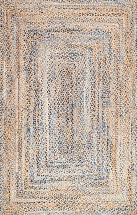 Rugs USA DR01 Hand Braided Twined Jute And Denim