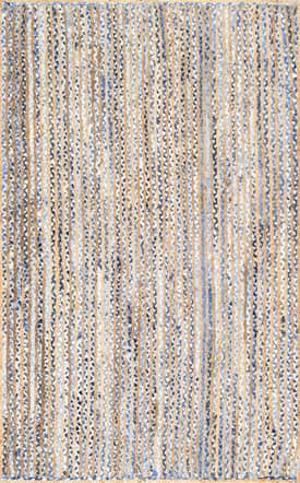 Rugs USA DR02 Hand Braided Jute And Denim Striped