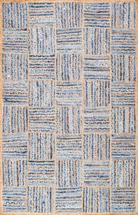 Rugs USA DR04 Hand Braided Jute And Denim Basketweave