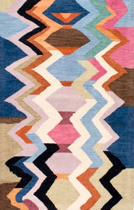 Rugs USA Striped Chevron Hand Made Woolen AH05