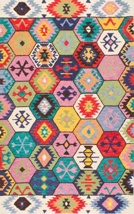 Rugs USA Tribal Hexagon Hand Made Woolen AH06