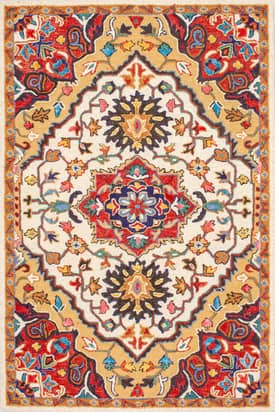 Rugs USA Medallion Wool and Viscose Tufted SM37