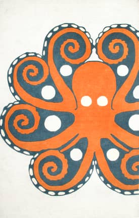 Rugs USA TP04 Hand Tufted Giant Octopus