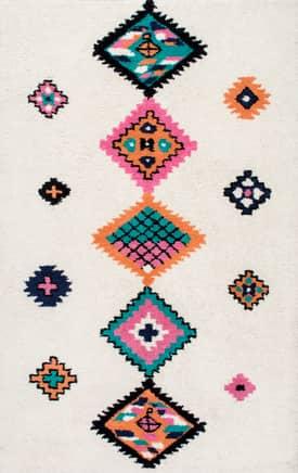 Rugs USA DB03 Hand Tufted Wool Tribal Diamond Row