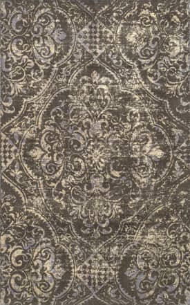 Rugs USA GL01 Hand Tufted Wool Fleur-De-Lis Medallion