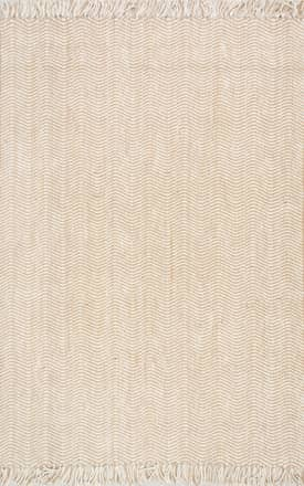 Rugs USA Jute Wavy Chevron With Tassel