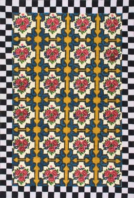 Rugs USA NT22 Rose Checkers