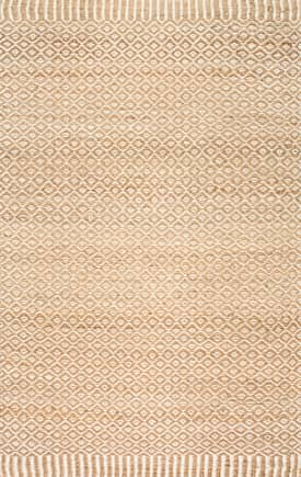 Rugs USA NT25 Jute Bird Eye Rippled Edge