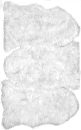 Rugs USA Three-Piece Sheepskin with Faux Backing