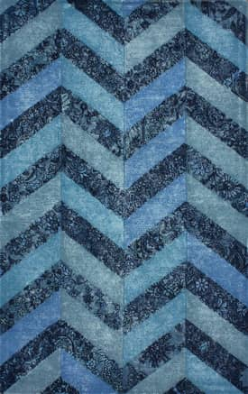 Rugs USA Overdyed Patchwork Chevron