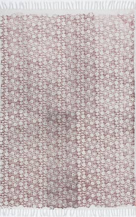 Rugs USA CH02 Block Printed Cotton Flatweave Petite Roses
