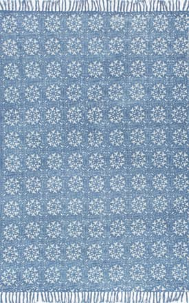 Rugs USA CH04 Block Printed Cotton Flatweave Petite Florette