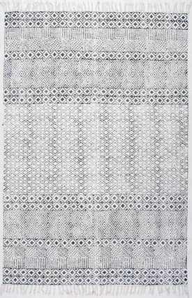 Rugs USA CH05 Block Printed Cotton Flatweave Varied Bands