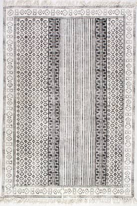 Rugs USA CH09 Block Printed Cotton Flatweave Diamond Rain