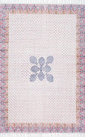 Rugs USA CH11 Flatweave Cotton Central Bouquet Polka Dot