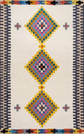 Rugs USA YC01 Hand Tufted Tribal Diamond Bird Eye