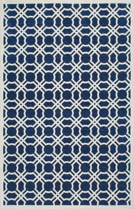Rugs USA PR01 Flatweave Curved Diamond Trellis