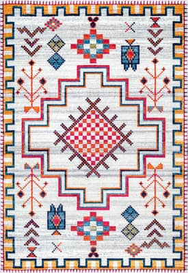 Rugs USA BD67 Tribal Crosshatch Medallion