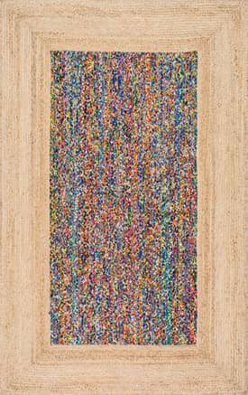 Rugs USA LY01 Braided Chindi with Jute Border Polychrome