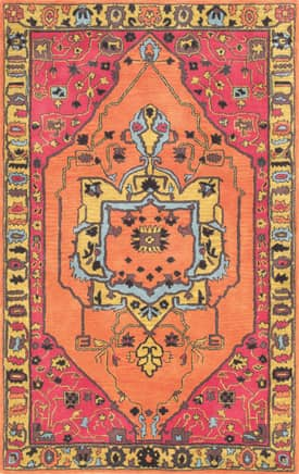 Rugs USA RE38 Floral Border Medallion