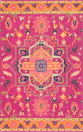 Rugs USA RE39 Floral Barbed Medallion