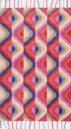 Rugs USA Wool Ikat Honeycomb Tassel