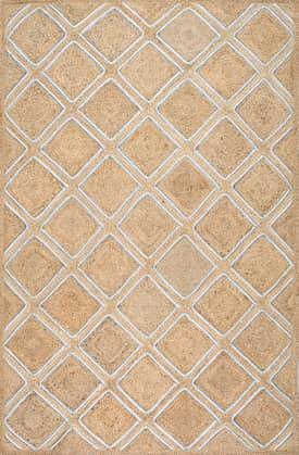 Rugs USA CD01 Jute Braided Diamond Lattice