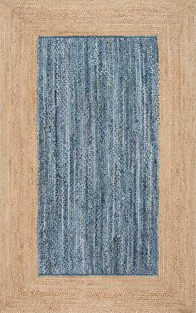Rugs USA CL01 Jute And Solid Denim Wide Border