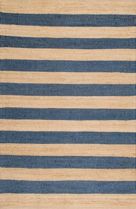 Rugs USA DR03 Jute And Denim Even Stripes