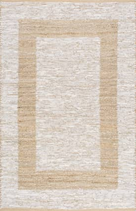 Rugs USA Jute and Leather Simple Border JT04A
