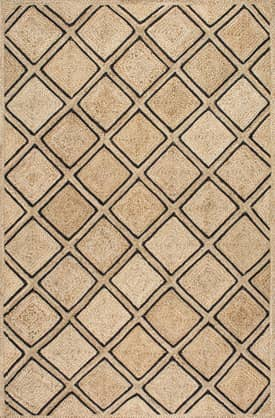 Rugs USA JT10 Braided Jute Diamond Trellis