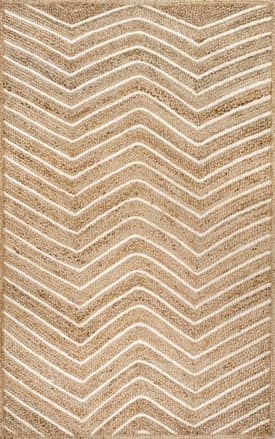 Rugs USA JT12 Jute Pinstriped Chevron
