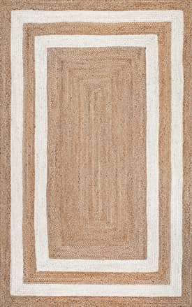 Rugs USA JT13 Jute Double Border