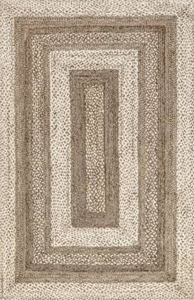 Rugs USA JT14 Jute Braided Bengal Border