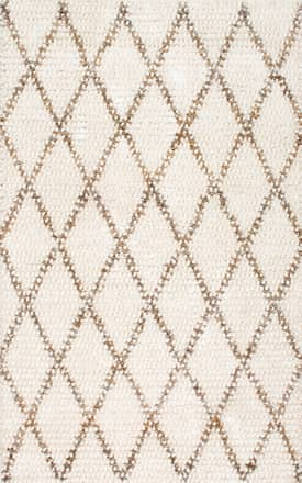Rugs USA Handmade Wool and Jute Diamond Trellis