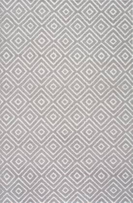 Rugs USA KA01 Hand Hooked Triple Diamond Trellis