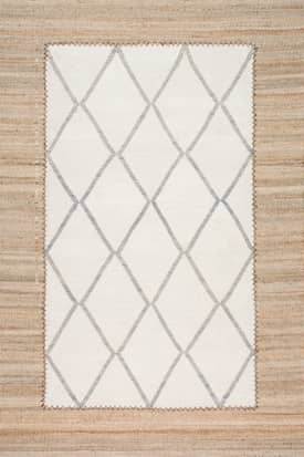 Rugs USA MN01 Flatweave Framed Moroccan Lattice