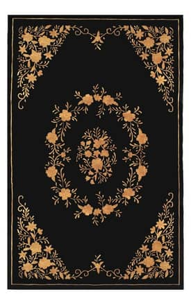 The American Home Rug Company Aubusson Silk Flowers