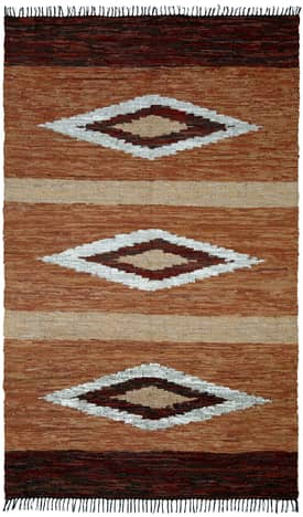 St. Croix Trading Diamonds Leather Woven Reversible Rug LCD08