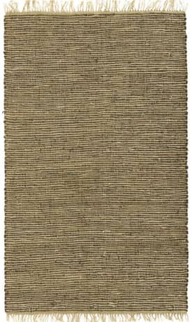 St. Croix Trading Hand Woven Leather And Hemp Rug LH01