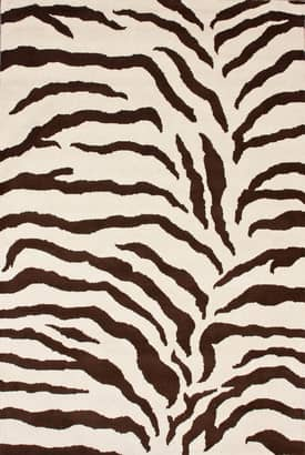Rugs USA Hand Made Wool Zebra Print