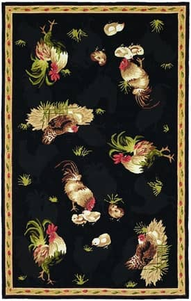 828 Accents Chicken Hens Rug