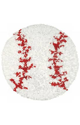 The Rug Market Kids Shaggy Raggy Baseball Rug