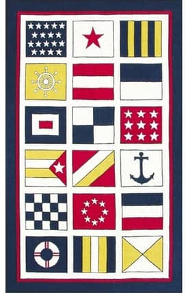 The Rug Market Kids Nautical Flags Rug