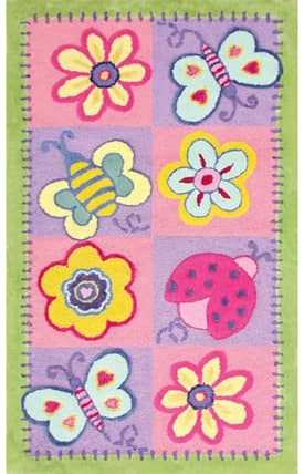 The Rug Market Kids Flowers & Butterflies Rug