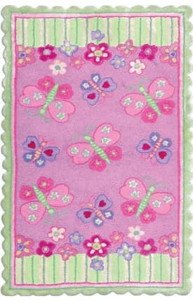 The Rug Market NA Butterfly Garden Rug