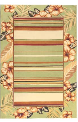 The Rug Market 6 Naturally Yours Stripe Hibiscus Rug