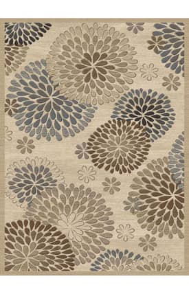 Central Oriental Stone Creek Chrysanthemum Rug