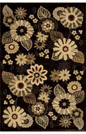 Central Oriental Stone Creek Blossoming Garden Rug